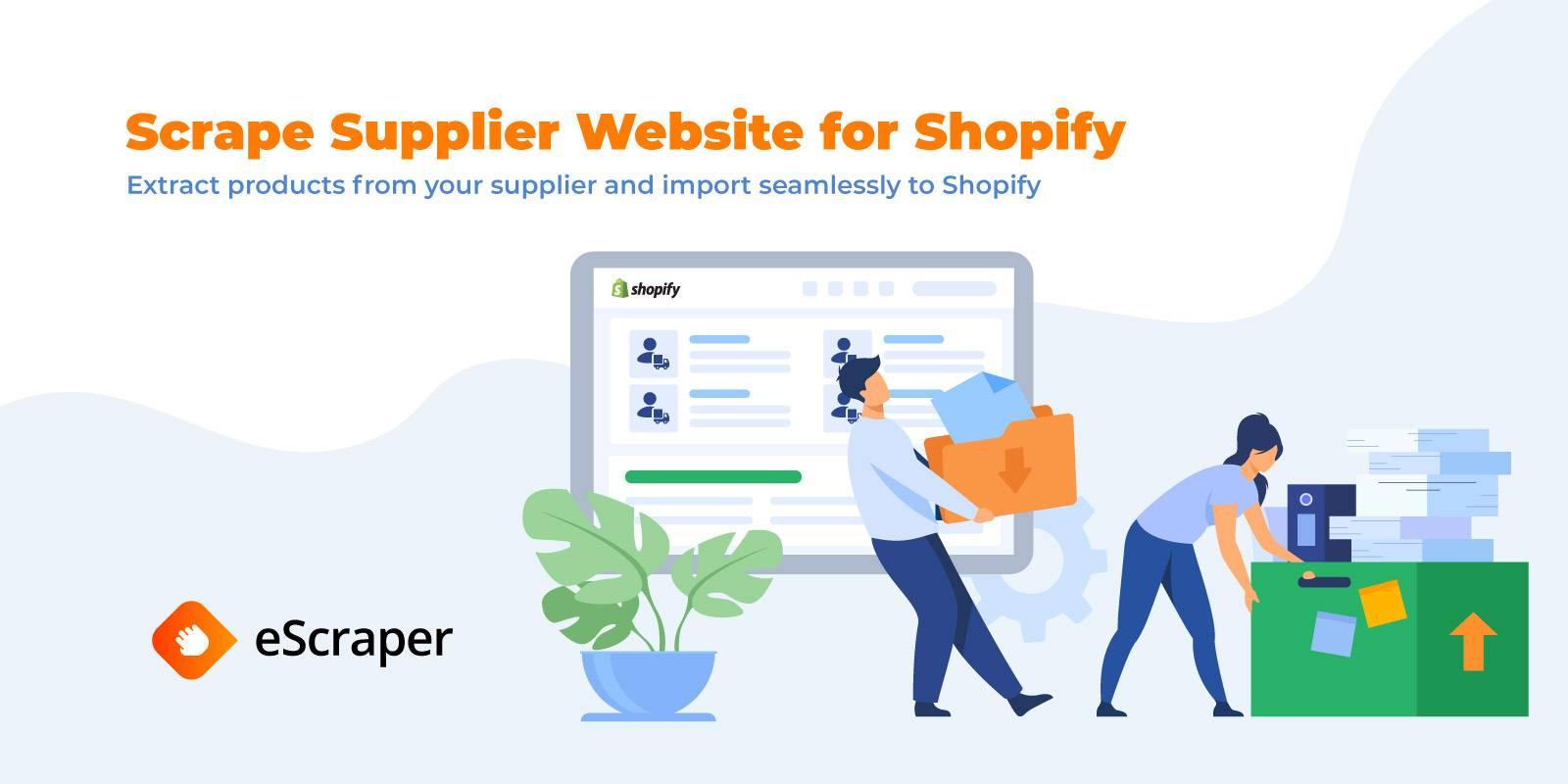 Scrape supplier website for Shopify