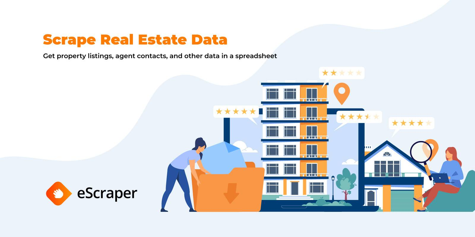 How to scrape data from a real estate web site